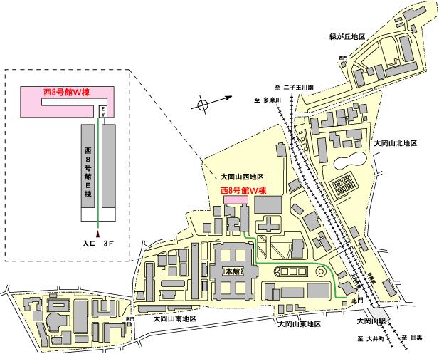Nakadai LaboratoryまでのMAP